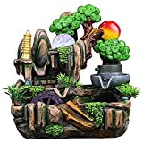 ZLQBHJ Desktop Fountain Resin Rockery Pequeño Tanque de Peces, Decoración de la Familia de la Fuente de la Mesa de Rockery Water, para Decoración de Fice, Decoración Lucky