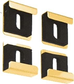 CRL Bright Gold Quartet Mirror Clamp Set - Dallas Design - Set