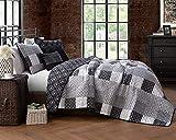 Avondale Manor EVA5QTQUENGHBL Bedding Set, Queen, Black/White