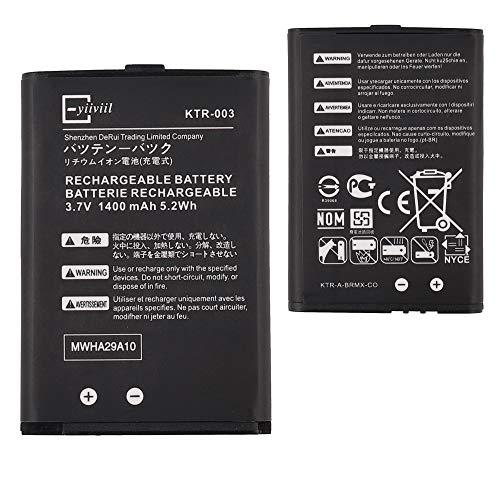 Neuer Ersatzakku KTR-003 Kompatibel mit New Nintendo 3DS N3DS 1400mAh