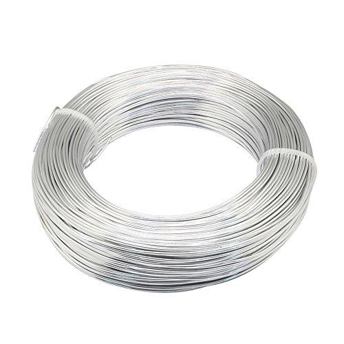 NBEADS 1 Rolle Aluminium Craft Draht Silber Für Schmuck Handwerk, Modellbau, Armaturen und Skulptur - 2mm × 55M (Durchmesser × Länge)