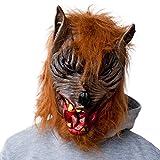 GOODS+GADGETS Werwolf Horror Maske Halloweenmaske Wolf Vollmaske Karneval Werwolfmaske
