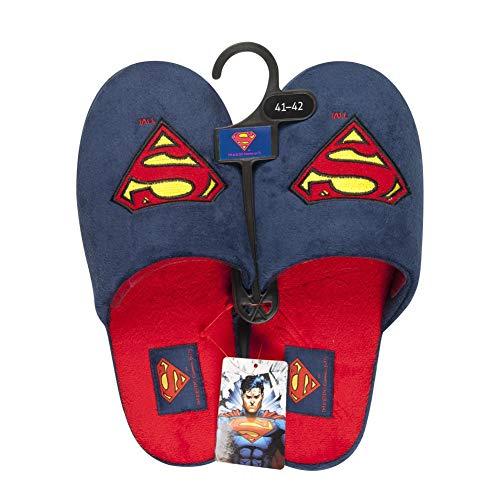 soxo Superman Zapatillas de Casa para Hombre | Talla 45-46 | Cómodas Babuchas Afelpadas | Suela Flexible Antideslizante