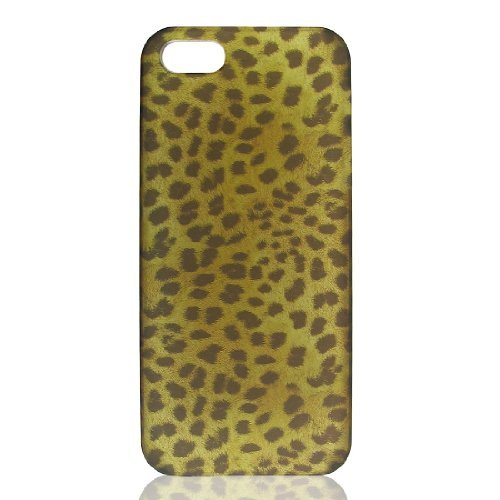 DealMux Brown Black Leopard gedrukt Hard Case Cover voor de Apple iPhone 5 5 G 5 Gen