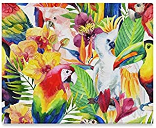 Wall Art Painting Macaw And Toucan Exotic Wild Animals Perched In Tropical Rainforest Prints On Canvas The Picture Landscape Pictures Oil For Home Modern Decoration Print Decor For Living Room