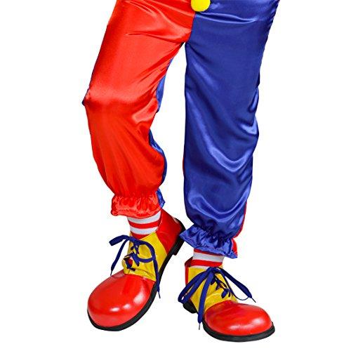 Amakando Chaussures de Bouffon | Chaussures de Clown colorées pour Les Enfants | Claquette de Clown | Une Paire de Chaussures de Cirque