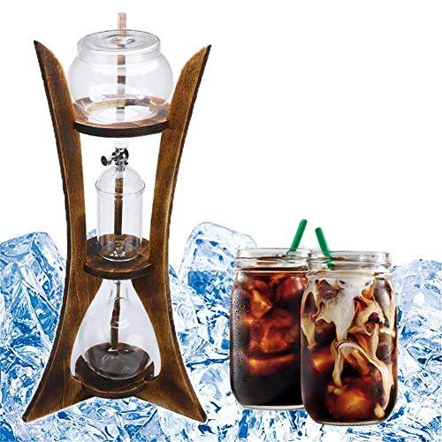 XYZZ 600 ml Kaffeeturm mit Iced Slow Drip-Technologie, 6-Tassen-Kaltbrühmaschine, hochwertiges hitzebeständiges Glas, hohe Transparenz, für die persönliche Familie