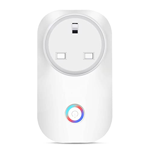 Smart Plug Outlet Timmer Switch Energy Monitoring Compatible with Alexa Google Home Echo No Hub Required Remote Control Your Devices by Smartphone Voice UK Plug (1 PCS)