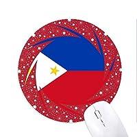 フィリピン国旗のアジアの国のシンボルマークのパターン 円形滑りゴムの赤のホイールパッド