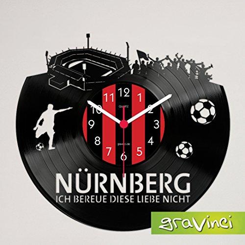 Gravinci Schallplatten-Wanduhr Nürnberg Fan