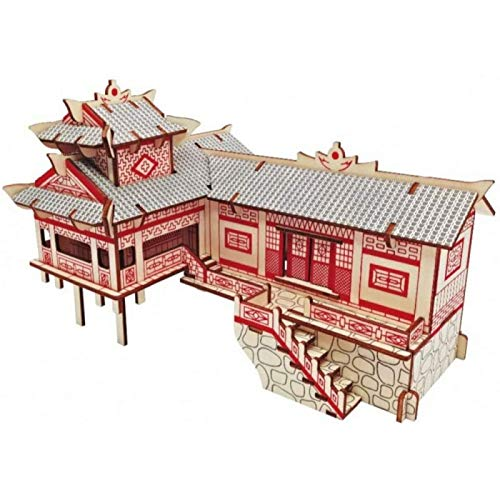 ZHANG Dollhouse Miniature Kit Xiangxi Diaojiaolou Model Kids Toys 3D Puzzle Wooden Toys Wooden Puzzle Educational Toys