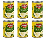 Del Monte Canned Bartlett Sliced Pears in Heavy Syrup, 15.25-Ounce (Pack of 6)