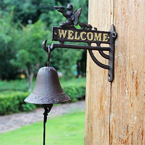 Battitachil tuinklok vintage gietijzeren deurbel engel startpagina muural tuin decoratie