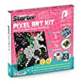 Pix Perfect Starter Pixel Art Kit for Fans of Pixel Art, Crafts or Sequins. 8 Colors, 3,200+ Pieces, 50+ Design Ideas, Hours of Creative Fun!