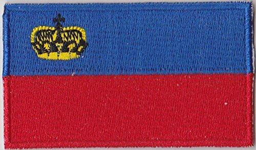 Flaggen Aufnäher Patch Liechtenstein Fahne Flagge - 6 x 3,5 cm