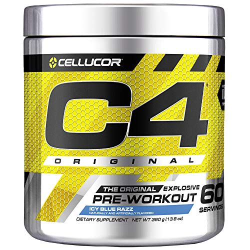 Cellucor C4 Pre Workout Supplement, Creatine Nitrate, Nitric Oxide, Beta Alanine & Energy, 60 Servings, Icy Blue Razz,G4