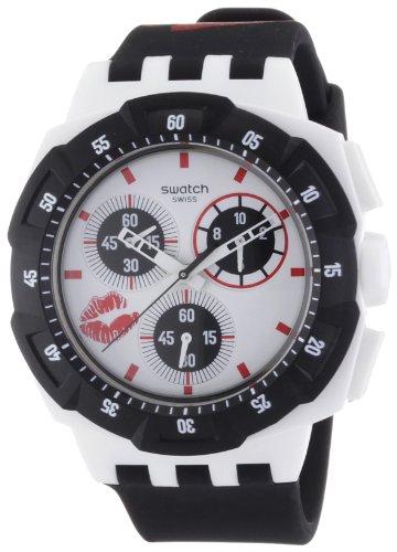 Swatch Herren-Armbanduhr Analog Leder SUKW100