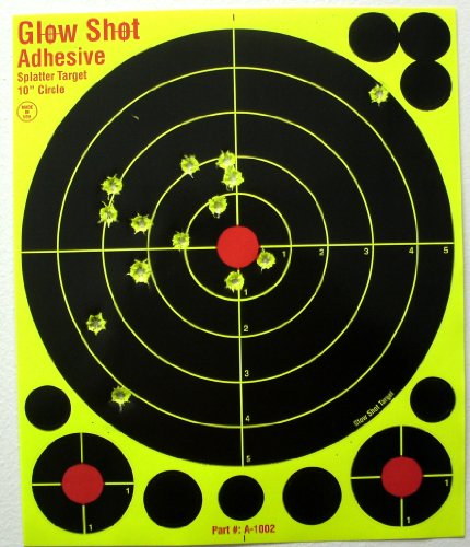 50 Pack - 10' Adhesive DayGo Reactive Splatter Targets - Glowshot - with 500 cover up patches