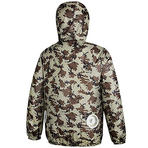 TSSM Koelventilatorjack voor unisex airconditioning kleding, UPF 50+ anti-uv zon-kleding voor hoge temperaturen outdoor-werken vissen reizen camping