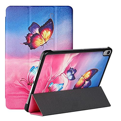 ShinyCase Compatible con iPad Mini 6th Generation 2021, PU Cuero Flip Protectora Carcasa con Función de Reposo/Activación Automática Tablet Funda para iPad Mini (2021) 8.3'/Mini 6,Tres Mariposas