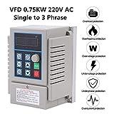 Azionamento a frequenza variabile, 1pc AC 220V 0,75kW Azionamento a frequenza variabile VF...