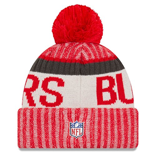 New era Tampa Bay Buccaneers Beanie NFL Sideline 2017 Red - One-Size