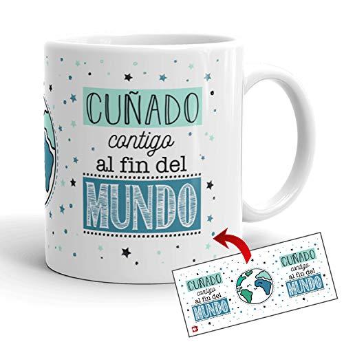 Kembilove Tazas de Café para Familiares – Taza con Mensaje Cuñado contigo...