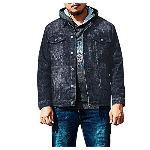 Preisvergleich Produktbild Aiserkly Herren Softshell Outdoor Jacke Übergangsjacke,  Bikerjacke Winterjacke Motorrad Jeans Jacke Tops Freizeit Style Plus Size Schwarz 5XL