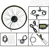 LiRongPing Rueda Delantera Motor 24V 250W Bicicleta eléctrica E Bike Kit de conversión con KT LCD3 Display 16-28 Pulgadas 700C Kit E-Bici,20inch LCD Sets