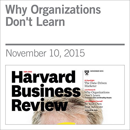 Why Organizations Don't Learn cover art