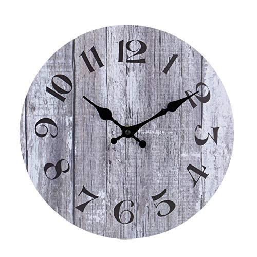 jomparis 25cm Grau Wanduhr kein nerviges Ticken Wanduhr für die Küche Home Office Wohnzimmer Schlafzimmer