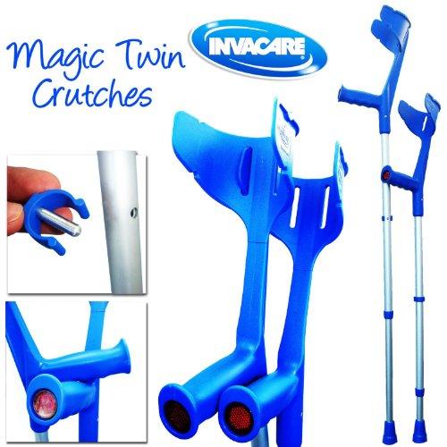 Invacare 'Magic Twin' stabile, verstellbare Krücken (Blau)