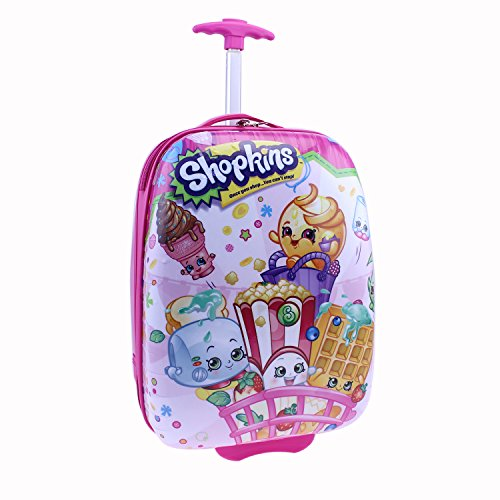 Moose Shopkins Hard Shell Luggage, Pink, One Size