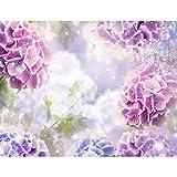 Runa Art Fototapete Blumen Hortensien Modern Vlies Wohnzimmer Schlafzimmer Flur - made in Germany - Violett 9414010b