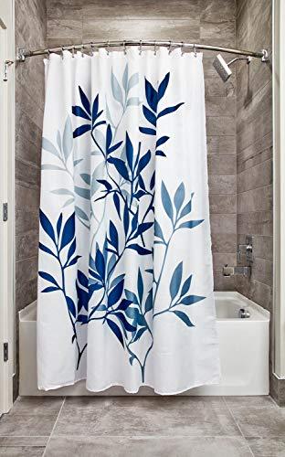 iDesign Leaves Botanical Fabric Bathroom Shower Curtain