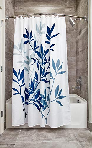 Our #2 Pick is the iDesign Leaves Fabric Shower Curtain