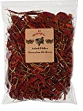 Arbol Chile Whole Dried Arbol Chile - 8 oz- El Molcajete Brand for Mexican Recipes, Tamales , Salsa,...