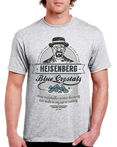 Camisetas la Colmena 427 - T-Shirt avec motif Breaking BadBlue Crystals - Safran Gris Gris sport M