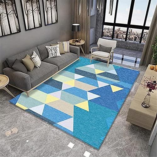 Multicolor Patrón de Costura geométrica Simple Arte Soft Soft Accesorios Inicio ANTERIORES DE LIBEROS Sala de Estar Sala de Estar Sofá alfombra-50x80cm Las alfombras Son aptas para Suelos radi