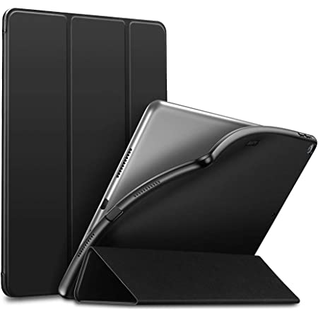 """ESR Rebound Slim Smart Case Specially Designed for iPad Air 3 10.5"""" 2019, Flexible TPU Back Cover with Rubberized Coating, Auto Sleep/Wake and Viewing/Typing Stand for iPad Air (3rd Gen) 2019, Black"""