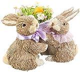 Infactory Decoración de Pascua: Conejitos de Pascua Decorativos con una Canasta de Huevos...