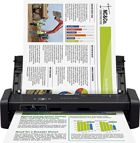 Epson WorkForce DS-360W Portable Wi-Fi Scanner