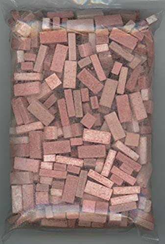 Dollhouse Miniature Used rouge Brick Blend by Andi Mini Brick & Stone 325 count by Andi Mini Brick & Stone