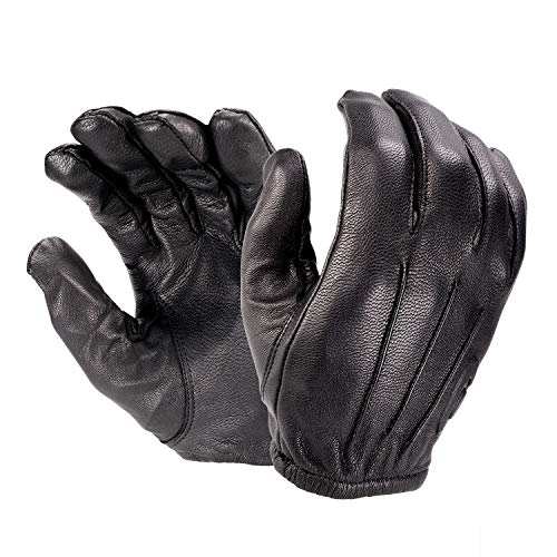 HATCH RFK300 All-Leather, Cut-Resistant Police Duty Glove with Kevlar - Black, Large