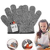 Schnittsichere Handschuhe für Kinder – Leistungsfähiger Level 5 Schutz, lebensmittelecht, Geeignet für 8-12 Jährige XS