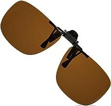 PEONIA Unisex Polarized Flip up Clip on Sunglasses Over Prescription Glasses Frames and Reading