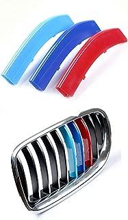 DBL 3ColorsKidneyGrillesInsertTrimCoverfor BMW 5 Series F10 F11 520i 528i 530i 535i 550i 2014-2017 MotorsportStripsGrill1Set (10 Grille)