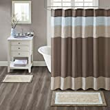 Madison Park Amherst Bathroom Rugs Room Décor 100% Cotton Tufted Ultra Soft Non-Slip, Absorbent Quick Dry Bathtub Mats, 20x30, Brown/Blue