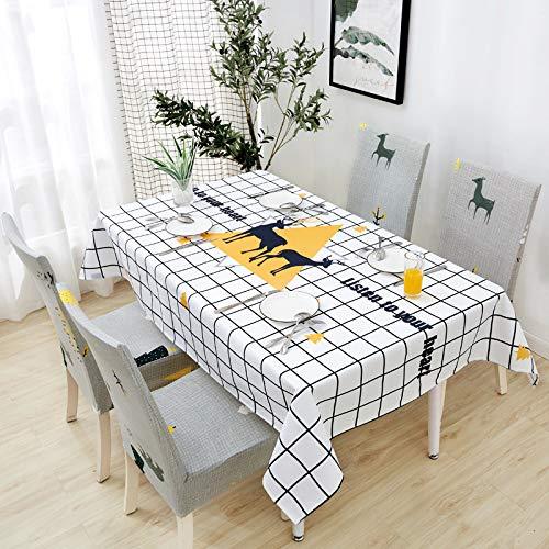 chenbyyao Baumwolle und Leinen klein frisch wasserdicht mit dem gleichen Stuhlbezug (ohne Tischdecke) 5 mal gut,Stuhlabdeckung elastisch, Microfiber Spannbezug mit Gummizug