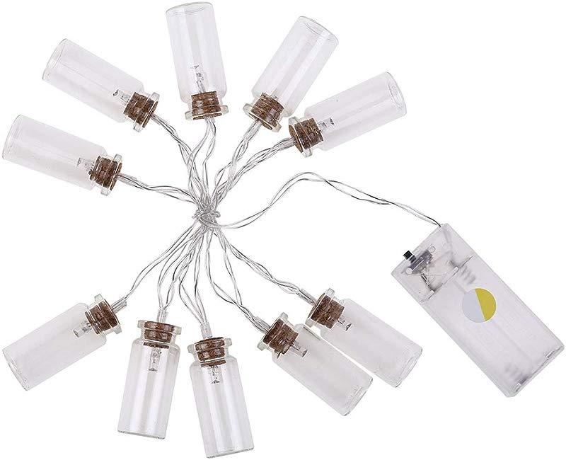 Esonbuy Christmas Day Home Props Lights Glass Wishing Bottles Shaped Decorative Lights Retro Stars Lights